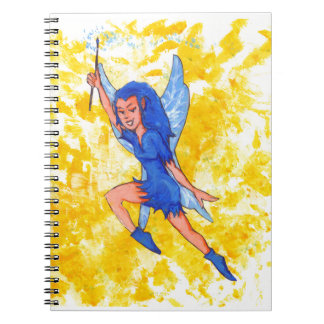 Fairie with Boots Spiral Notebook