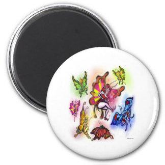Fairies 2 Inch Round Magnet