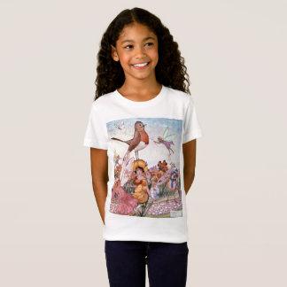 Fairies and Birds in a Garden, T-Shirt