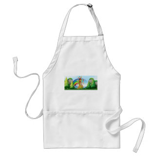 Fairies and castle adult apron