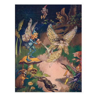 Fairies and Elves in a Night Garden, Postcard