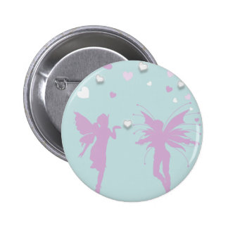 Fairies and Hearts Pinback Buttons