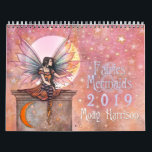 """Fairies and Mermaids 2019 Wall Calendar Molly H<br><div class=""""desc"""">Featuring my latest artworks,  all mermaids and fairies except for one witch/cat painting for the month of October,  this wall calendar is the perfect gift for any fantasy art lover!  This calendar contains 12 paintings which were done in 2017 and 2018.  Enjoy!</div>"""