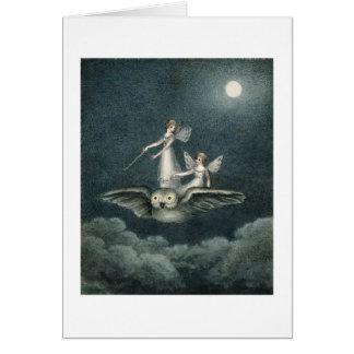 Fairies and Owl (Blank Inside) Card