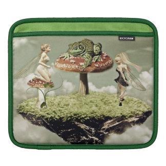 Fairies and the frog prince iPad sleeve