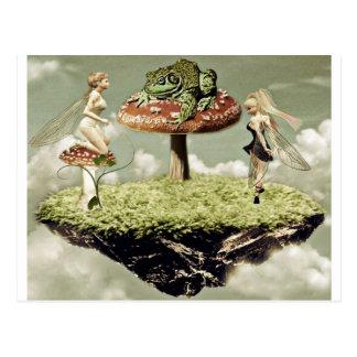 Fairies and the frog prince Postcard