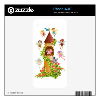 Fairies and tower decals for iPhone 4