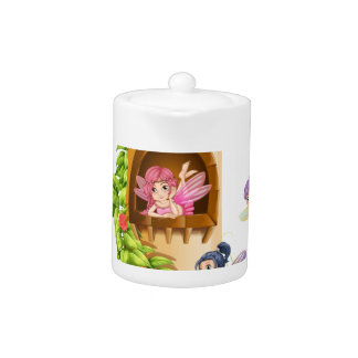 Fairies and tower teapot