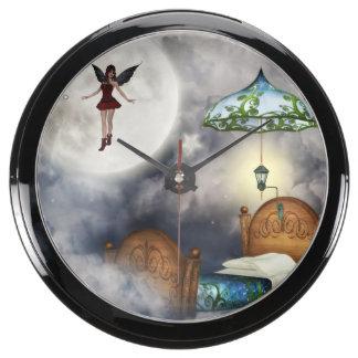 Fairies Aquarium Clock