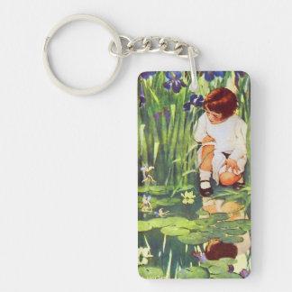 Fairies at Pond Jessie Willcox Smith Illustration Keychain