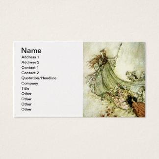 Fairies Away - Arthur Rackham Business Card
