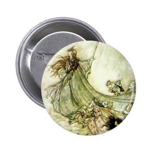 Fairies Away - Arthur Rackham Button