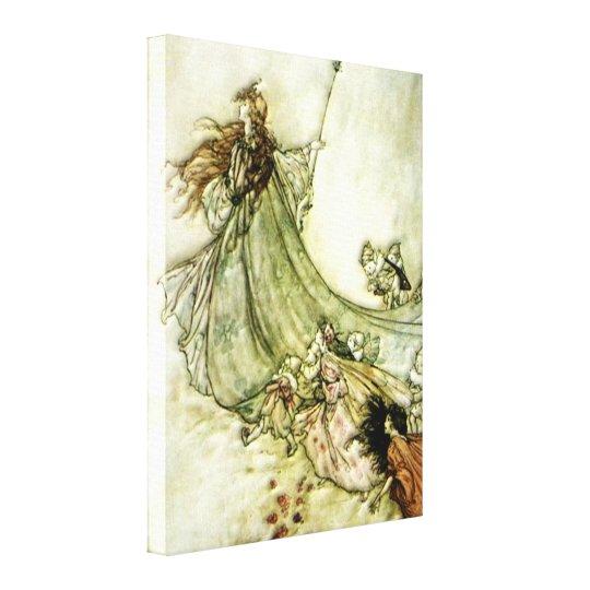 Fairies Away - Arthur Rackham Canvas Print