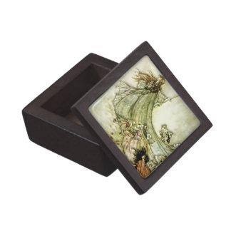 Fairies Away - Arthur Rackham Keepsake Box