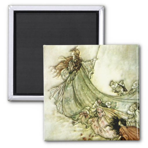 Fairies Away - Arthur Rackham Magnets