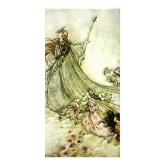 Fairies Away - Arthur Rackham Photo Card Template