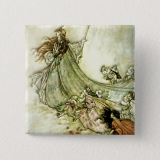 Fairies Away - Arthur Rackham Pinback Button