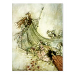 Fairies Away - Arthur Rackham Postcard