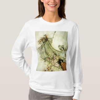 Fairies Away - Arthur Rackham T-Shirt