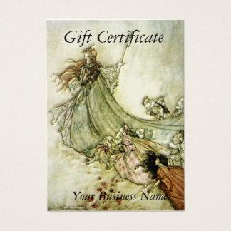 Fairies Away Gift Certificate - Arthur Rackham