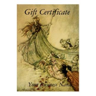 Fairies Away Gift Certificate - Arthur Rackham Large Business Cards (Pack Of 100)