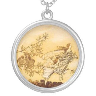 Fairies by Arthur Rackham Silver Plated Necklace