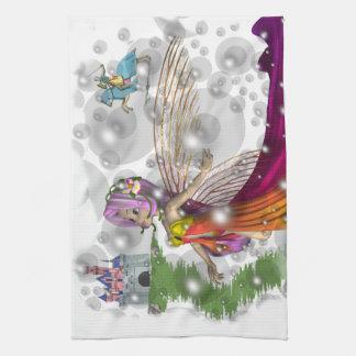 Fairies,Castles,Knights American MoJo Kitchen Towe Hand Towel