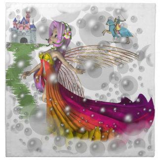 Fairies,Castles,Knights American MoJo Napkin