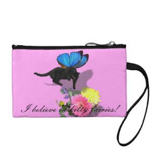 fairies cat butterfly coin purse baggette bag