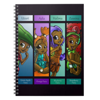 Fairies Close-up Notebook Spiral Note Books