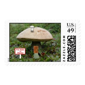 Fairies & Elves Mushroom House Stamp