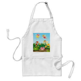 Fairies flying adult apron