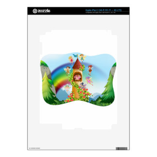 Fairies flying around the castle iPad 3 decals
