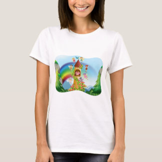 Fairies flying around the castle T-Shirt