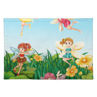 Fairies flying cloth placemat