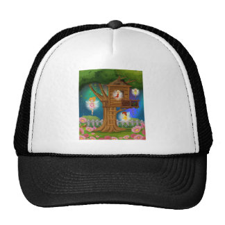 Fairies flying in the garden trucker hat