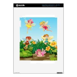 Fairies flying iPad 3 decals