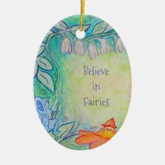 Fairies in the Garden Custom Oval Ornament