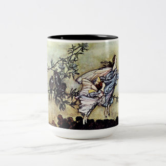 Fairies in the Garden Two-Tone Coffee Mug