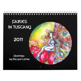 FAIRIES IN TUSCANY  2017 Fantasy Calendar
