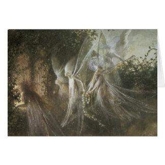 Fairies Looking Through A Gothic Arch,1864 Greeting Card