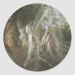 Fairies Looking Through A Gothic Arch,1864 Classic Round Sticker