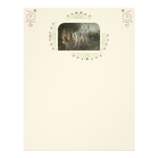 Fairies Looking Through a Gothic Arch by John A... Letterhead