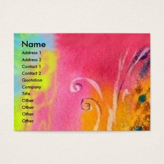 FAIRIES OF DAWN / MAGIC SPARKLES IN FUCHSIA GOLD BUSINESS CARD