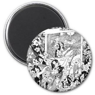 Fairies of Peaceful Slumber 2 Inch Round Magnet
