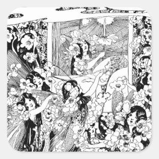 Fairies of Peaceful Slumber Square Sticker