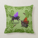 Fairies on front fairy on back green leaf pillow