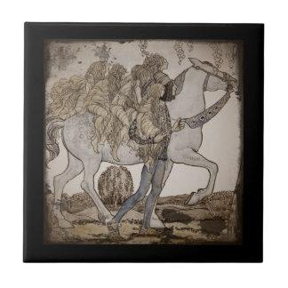 Fairies on Horseback Ceramic Tile