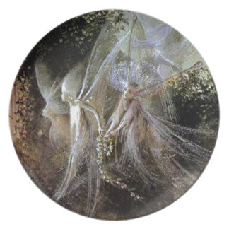 Fairies Watching At Forest Edge Plate