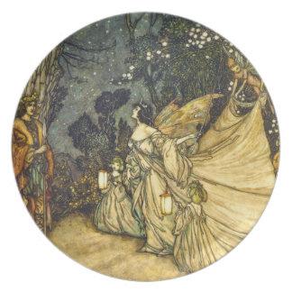 Fairies Wedding PlateTitania and Oberon Party Plates